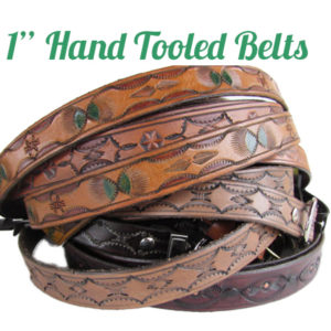 Handmade Leather Belts for Men & Women 1""