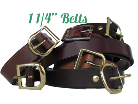 "Quality Leather Belts 1 1/4 "" from Premium Hides"
