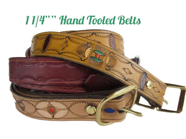hand tooled 1.25 belts
