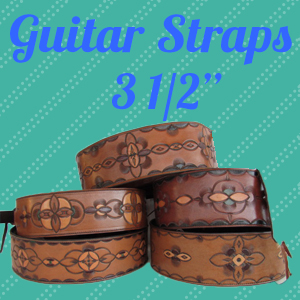 Professional Leather Guitar Straps- 3 1/2