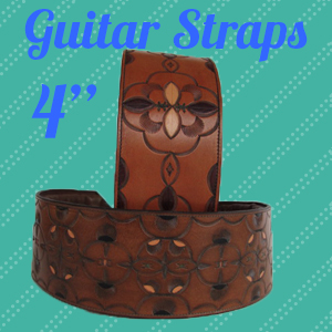 Leather Guitar Straps- 4