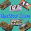 handmade leather checkbook covers