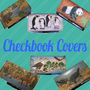 handmade leather checkbook covers