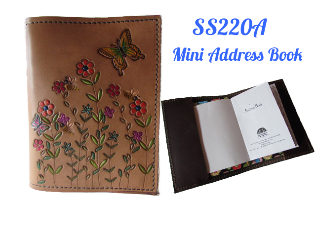 Women S Leather Accessories With A Wildflower Field Design