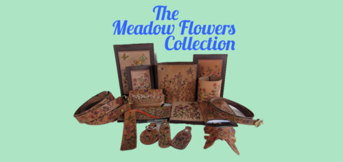 Womens Leather Accessories-Meadow Flowers Collection
