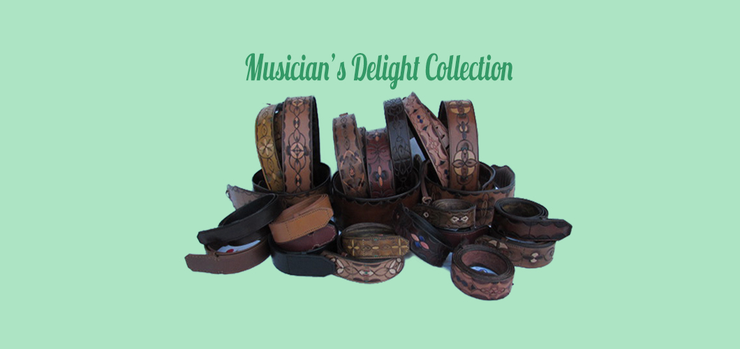 Leather Guitar Straps with matching belts