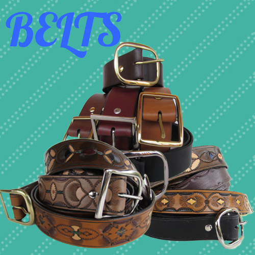 tooled-leather-belts