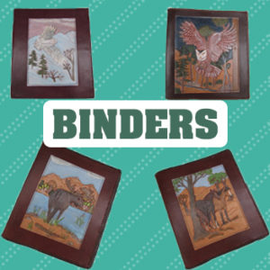 handmade leather binder