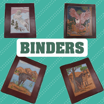 handmade leather binder