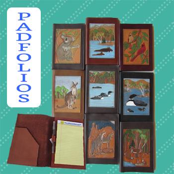 custom leather padfolio