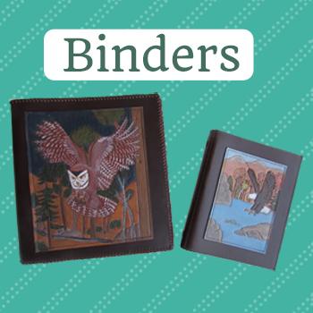 3 ring leather binder