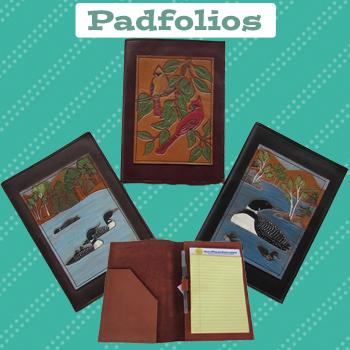 handmade leather portfolio cover