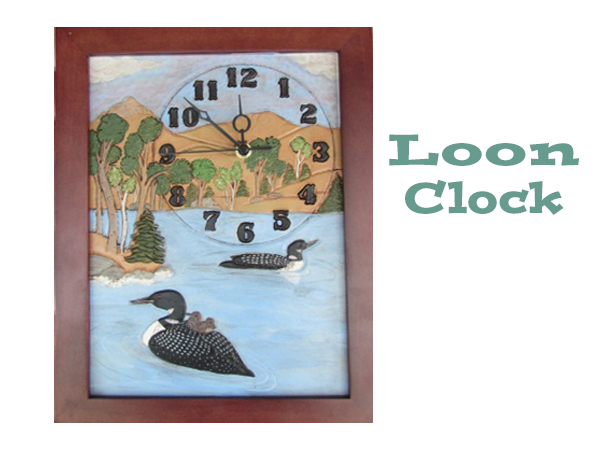 home office decor loon clock