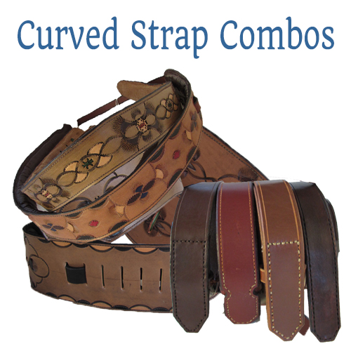 curved guitar strap/belt combo