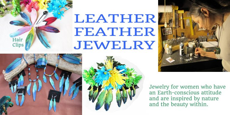 Leather Feather Jewelry