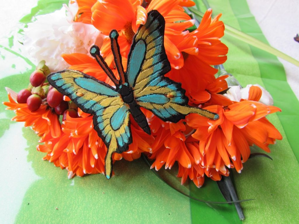 butterfly-hair-clip-tiger