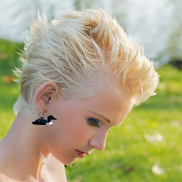 loon-earring-model