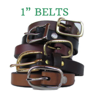 """1"""" leather belts in 8 colors"""