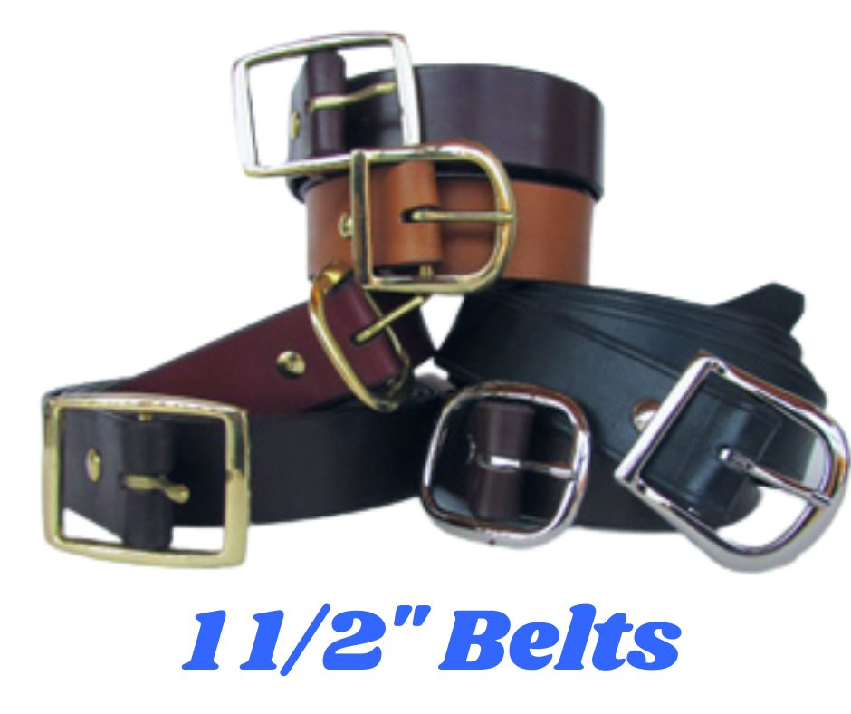 1 1/2' Plain Leather belts in 6 colors