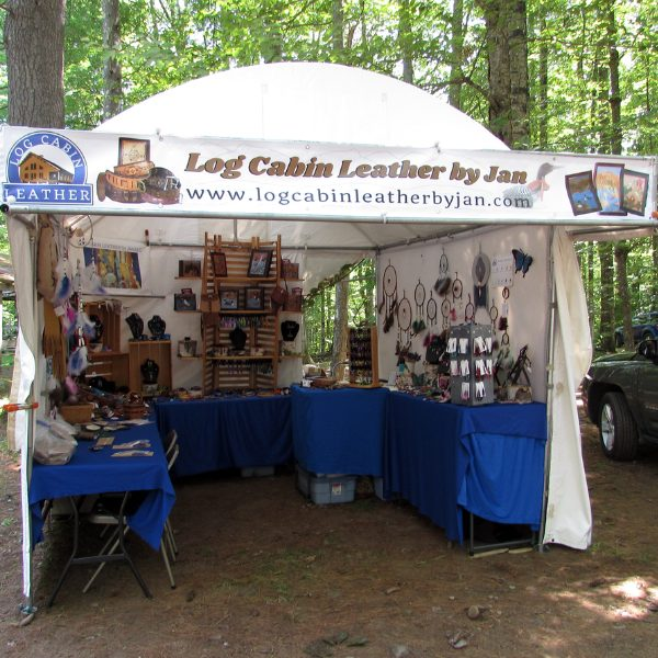 booth display Log Cabin Leather